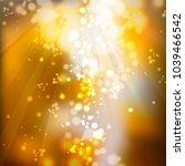 golden abstract decorative... | Shutterstock .eps vector #1039466542