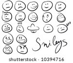 smiley/smilies set - stock vector