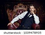imposing well dressed man ... | Shutterstock . vector #1039478935