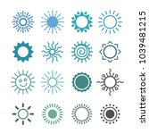 sun icon vector set in a flat... | Shutterstock .eps vector #1039481215