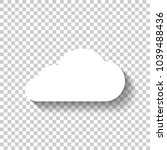 cloud icon. white icon with... | Shutterstock .eps vector #1039488436