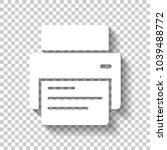 printer and paper. white icon... | Shutterstock .eps vector #1039488772