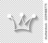 crown icon. white icon with...