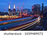 battersea power station rail... | Shutterstock . vector #1039489072
