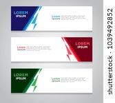 vector abstract design banner... | Shutterstock .eps vector #1039492852