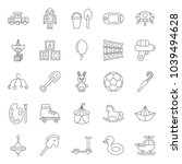 a set of simple outline toys... | Shutterstock .eps vector #1039494628