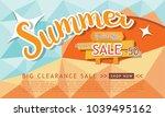 summer sale template banner ... | Shutterstock .eps vector #1039495162