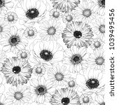 hand drawn seamless pattern... | Shutterstock .eps vector #1039495456