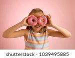 young beautiful happy and... | Shutterstock . vector #1039495885