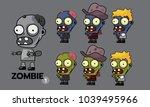 zombie character cartoon style... | Shutterstock .eps vector #1039495966