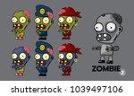 zombie character cartoon style...