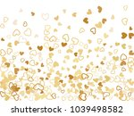 gold valentine's day scatter of ...   Shutterstock .eps vector #1039498582