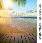 art beautiful seaside view... | Shutterstock . vector #1039502638