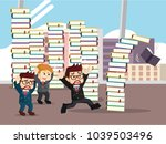 business people panic when see... | Shutterstock .eps vector #1039503496
