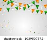orange white green flag and... | Shutterstock .eps vector #1039507972