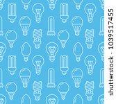 light bulbs blue seamless... | Shutterstock .eps vector #1039517455