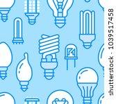 light bulbs seamless pattern... | Shutterstock .eps vector #1039517458