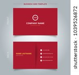 creative business card and name ... | Shutterstock .eps vector #1039526872