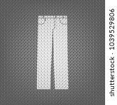 men's jeans or pants sign.... | Shutterstock .eps vector #1039529806