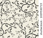 seamless pattern with floral...   Shutterstock .eps vector #1039530715