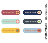 favorite buttons flat smooth... | Shutterstock .eps vector #1039533202