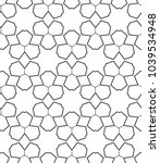 seamless vector pattern in... | Shutterstock .eps vector #1039534948