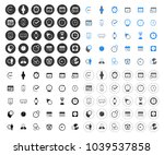calendar icons set   time  ... | Shutterstock .eps vector #1039537858