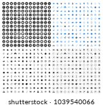 vector business office icons... | Shutterstock .eps vector #1039540066