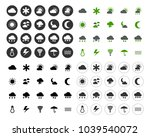 weather overcast icons set  ... | Shutterstock .eps vector #1039540072