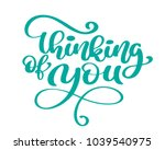 vector calligraphy thinking of... | Shutterstock .eps vector #1039540975