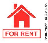 house for rent sign vector | Shutterstock .eps vector #1039541656