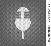retro microphone sign. vector.... | Shutterstock .eps vector #1039543438