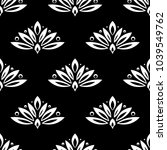 floral background with black... | Shutterstock .eps vector #1039549762
