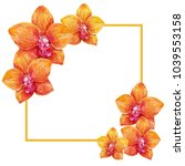 Orange Orchid Flowers With...