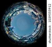 circle panorama of urban city... | Shutterstock . vector #1039555912