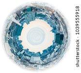 circle panorama of urban city... | Shutterstock . vector #1039555918