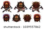 the american indian set with... | Shutterstock . vector #1039557862