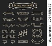 set of retro vintage ribbon... | Shutterstock .eps vector #1039558672