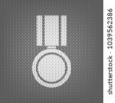 medal sign illustration. vector.... | Shutterstock .eps vector #1039562386