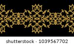 seamless pattern. golden... | Shutterstock . vector #1039567702
