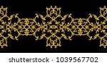 seamless pattern. golden... | Shutterstock . vector #1039567702