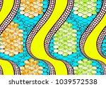 textile fashion african print... | Shutterstock .eps vector #1039572538