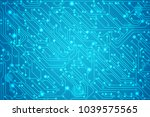 abstract technology circuit... | Shutterstock .eps vector #1039575565