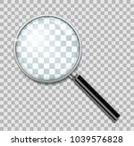 magnifying glass with steel... | Shutterstock .eps vector #1039576828