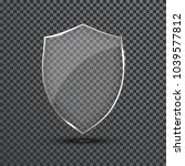 transparent shield. safety... | Shutterstock .eps vector #1039577812