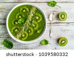 a delicious and healthy green... | Shutterstock . vector #1039580332