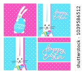 easter templates collection....   Shutterstock .eps vector #1039586512