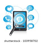 phone with  icons and...   Shutterstock .eps vector #103958702