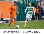 Small photo of LUBIN, POLAND - MARCH 2, 2018: Match Polish Lotto Ekstraklasa between KGHM Zaglebie Lubin - Lechia Gdansk 0:0. In action Alan Czerwinski (L) and Filip Mladenovic (R).