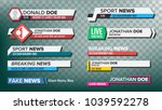 tv news bars set vector.... | Shutterstock .eps vector #1039592278